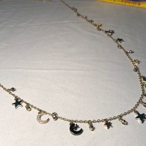 Stars and moons long necklace